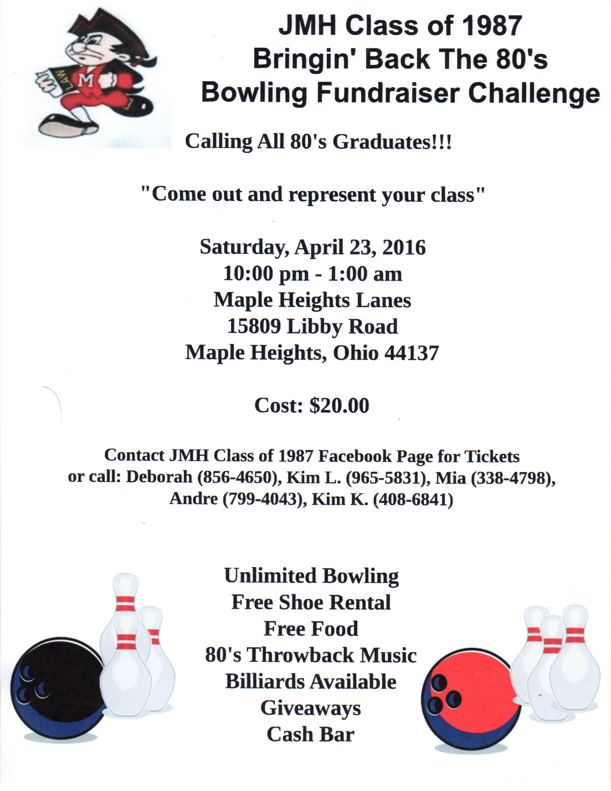 Bowling Party Flier April 23 2016